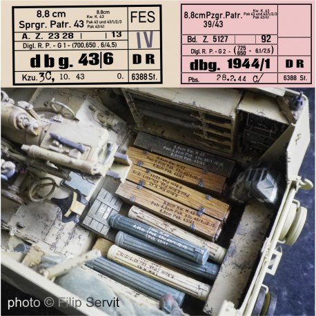 Popisky na muniční bedny