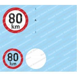 Speed limit - 80 km