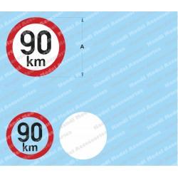Speed limit - 90 km